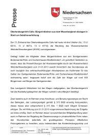 Pressemitteilung OLG Celle vom 25. Juni 2015